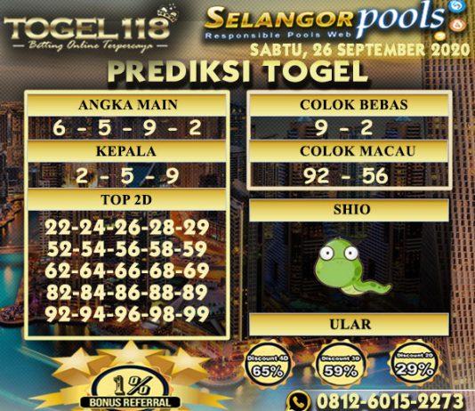 prediksi Togel Selangor 26 September 2020