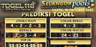Prediksi Togel Selangor 10 Oktober 2020