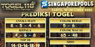Prediksi Togel Singapore 10 Oktober 2020