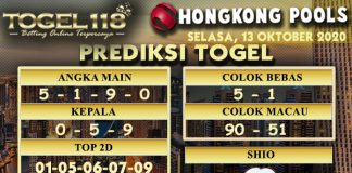 Prediksi Togel Hongkong 13 Oktober 2020