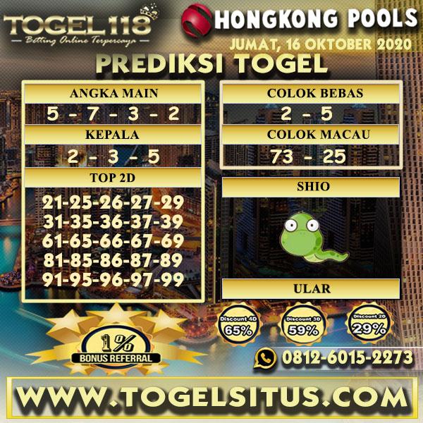 Prediksi Togel Hongkong 16 Oktober 2020
