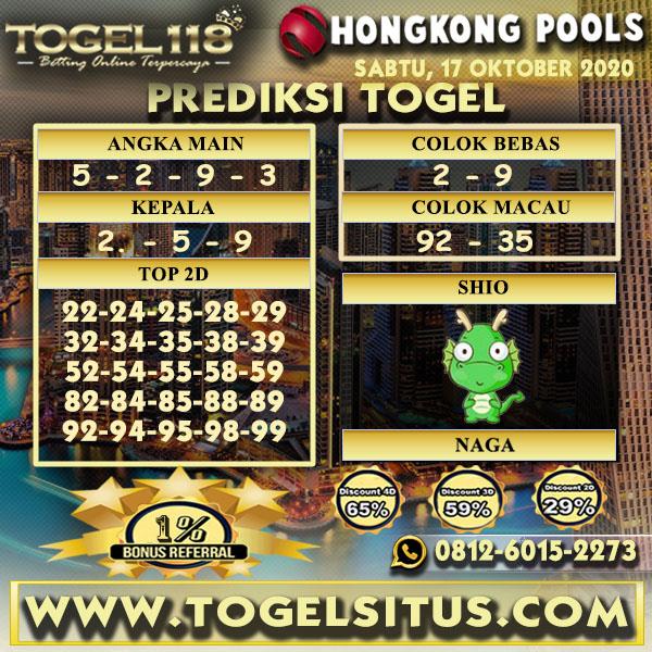 Prediksi Togel Hongkong 17 Oktober 2020