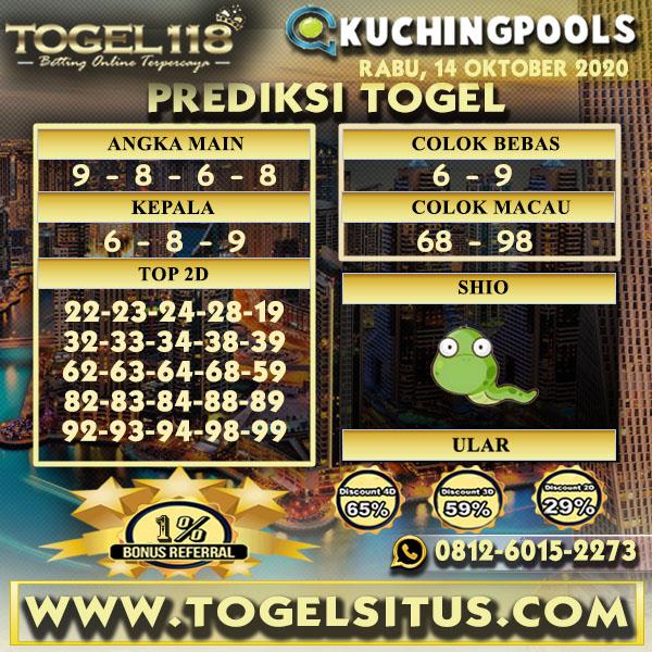 Prediksi Togel Kuching 14 Oktober 2020