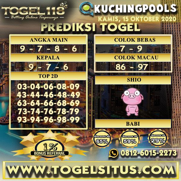 Prediksi Togel Kuching 15 Oktober 2020