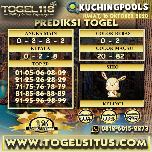 Prediksi Togel Kuching 16 Oktober 2020