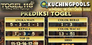 Prediksi Togel Kuching 18 Oktober 2020