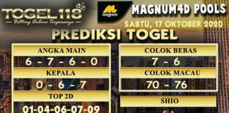 Prediksi Togel Magnum4D 17 Oktober 2020