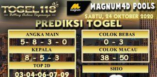 Prediksi Togel Magnum4D 24 Oktober 2020