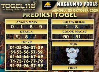 Prediksi Togel Magnum4D 25 Oktober 2020