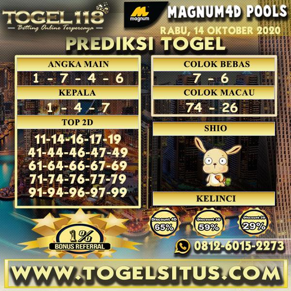 Prediksi Togel Magnum4D 14 Oktober 2020