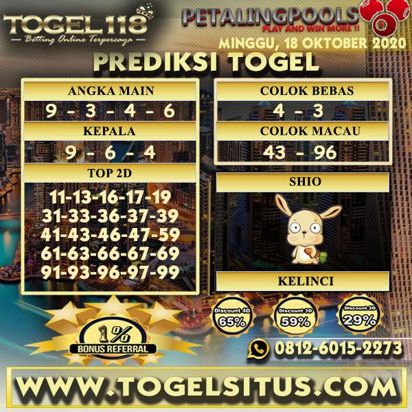 Prediksi Togel Petaling 18 Oktober 2020
