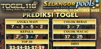 Prediksi Togel Selangor 11 Oktober 2020