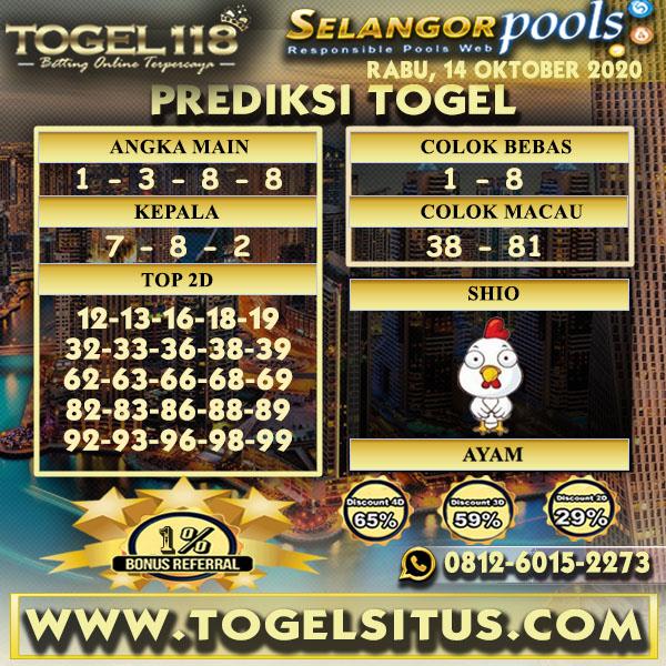 Prediksi Togel Selangor 14 Oktober 2020