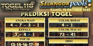 Prediksi Togel Selangor 15 Oktober 2020