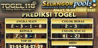 Prediksi Togel Selangor 16 Oktober 2020