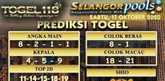 Prediksi Togel Selangor 17 Oktober 2020