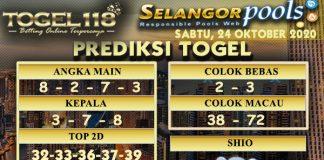 Prediksi Togel Selangor 24 Oktober 2020