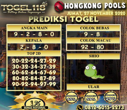 Prediksi Togel Hongkong 27 November 2020