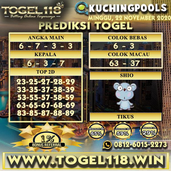 Prediksi Togel Kuching 22 November 2020