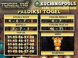Prediksi Togel Kuching 25 November 2020