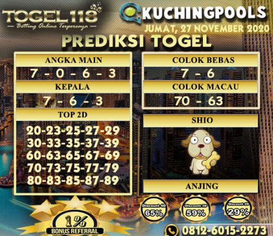 Prediksi Togel Kuching 27 November 2020