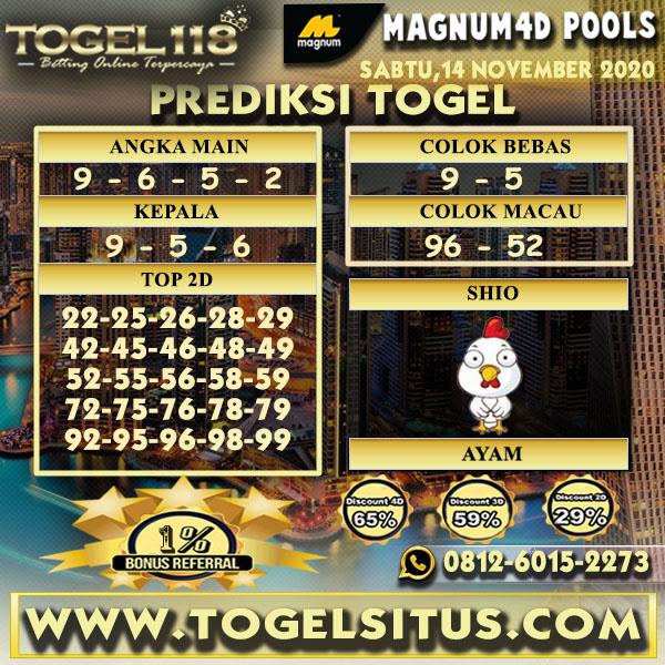 Prediksi Togel Magnum4D 14 November 2020