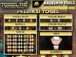 Prediksi Togel Magnum4D 21 November 2020