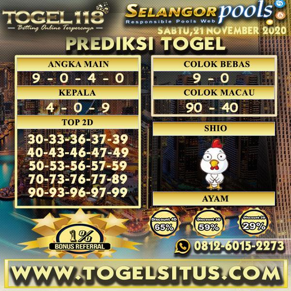 Prediksi Togel Selangor 21 November 2020