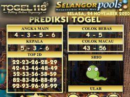 Prediksi Togel Selangor 24 November 2020