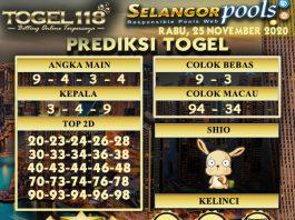 Prediksi Togel Selangor 25 November 2020