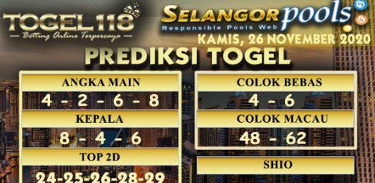 Prediksi Togel Selangor 26 November 2020