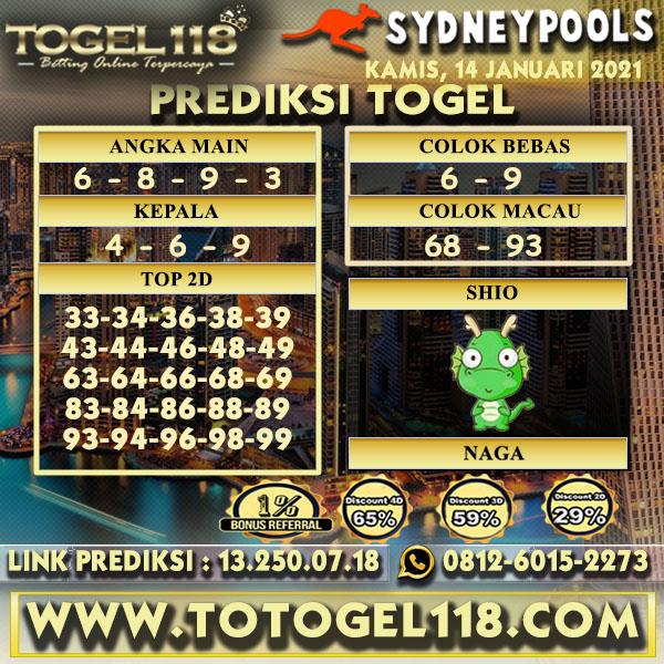 Prediksi Togel Sydney 14 Januari 2021