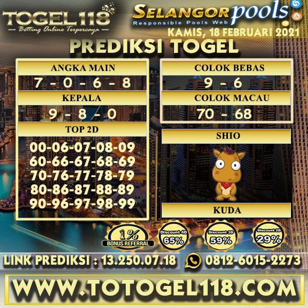 Prediksi Togel Selangor 18 Februari 2021
