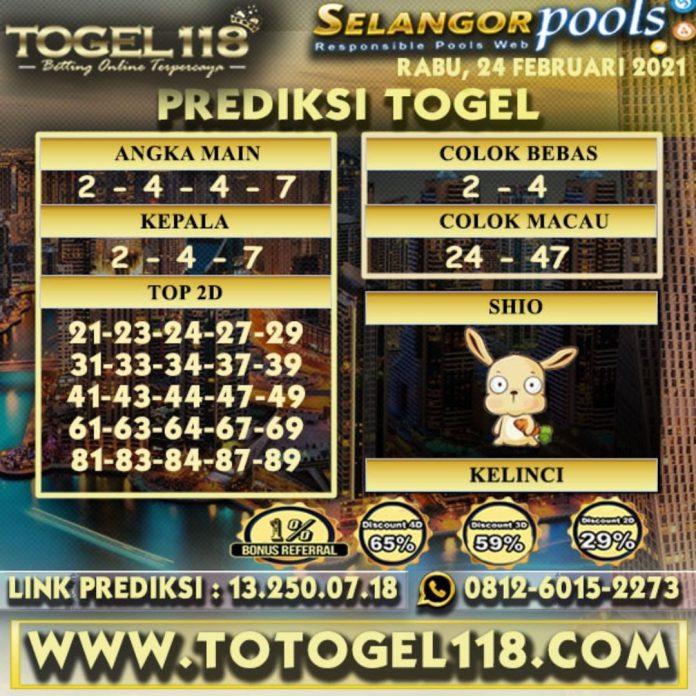 Prediksi Togel Selangor 24 Februari 2021