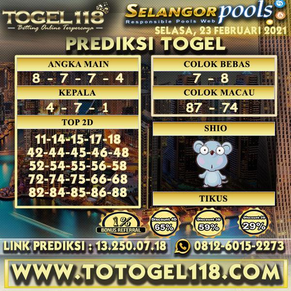 Prediksi Togel Selangor 23 Februari 2021