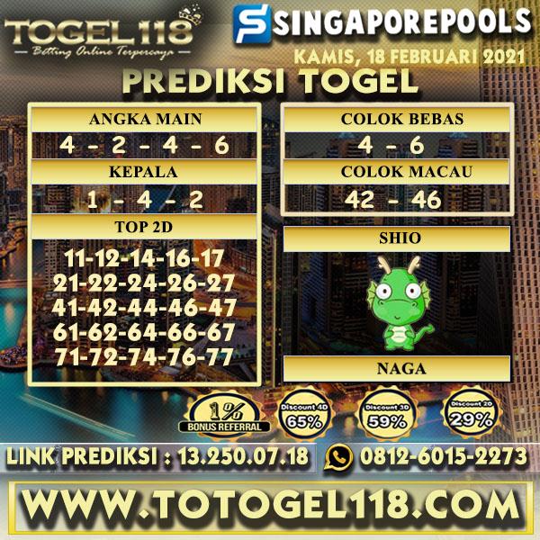 Prediksi Togel Singapore 18 Februari 2021