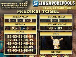 Prediksi Togel Singapore 04 Maret 2021
