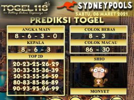 prediksi Togel Sydney 06 Maret 2021
